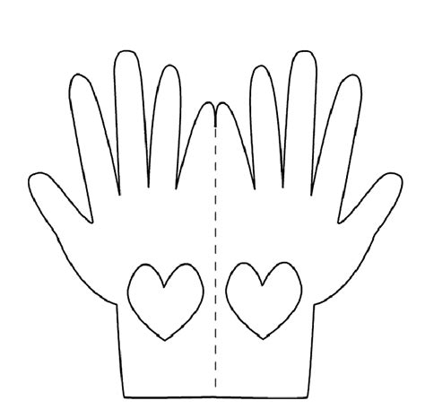 printable hand cliparts co