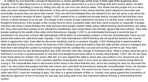 Anthem Essays by Anthem By Ayn Rand Essay At Essaypedia