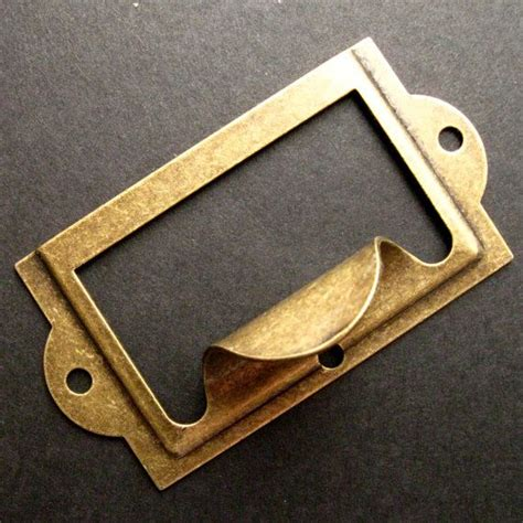 Metal Label Holders For Drawers by Antique Brass Label Holders Set Of 5 Drawer Pull