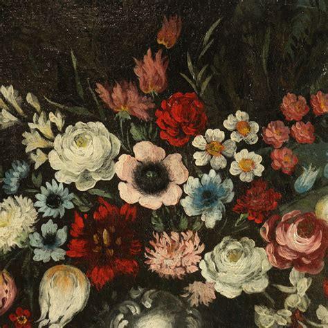 nature morte con fiori coppia di nature morte con fiori e frutta pittura antica