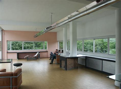 Livingroom Interior Design Images Of Villa Savoye By Le Corbusier