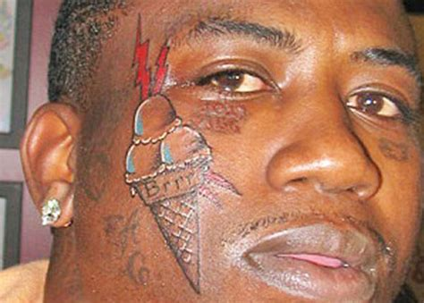 ice cream cone face tattoo 9 reasons why gucci mane is the greatest gafollowers