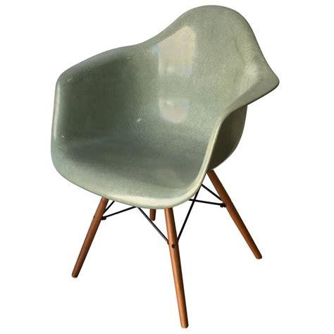 Eames Fiberglass Armchair by Herman Miller Eames Seafoam Green Fiberglass Armchair At