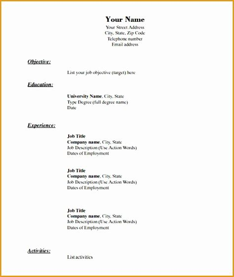 awesome resume blank format pdf 8 blank resume template pdf free sles exles format resume curruculum vitae free