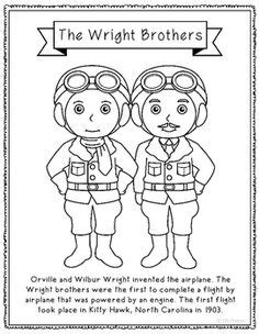 The Wright Brothers Fluency Building Practice Pages Wright Brothers Coloring Page