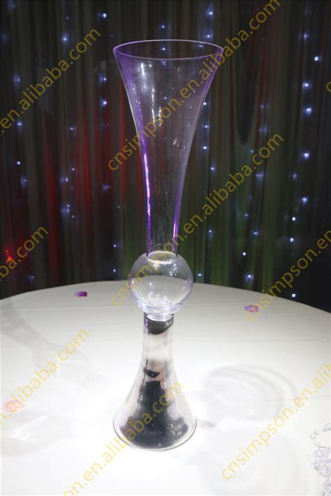 wholesale wedding glass vase centerpieces clear reversible