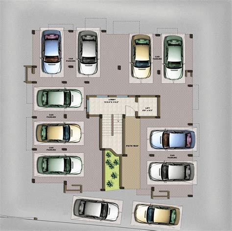 floor plan car 3 bedrooms duplex floor flats plan design photos of