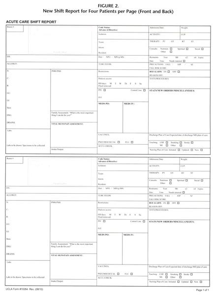 Bedside Report Template Er Academic Onefile Document Use Of An Evidence Based