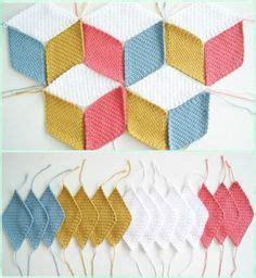 pattern blocks en francais v comme vasarely le plaid tuto gratuit crochet plaid