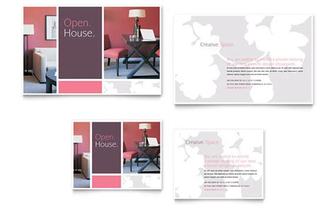 home business card template 8 5x11 ai interior designer note card template design