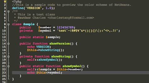 color themes netbeans monokai