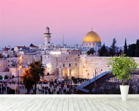 western wall mural western wall and dome of the rock in jerusalem israel wall mural western wall and dome of the