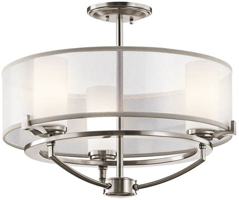 Semi Flush Ceiling Lights Contemporary Kichler Lighting 42923clp Saldana Modern Contemporary Semi Flush Mount Ceiling Light Kch 42923clp