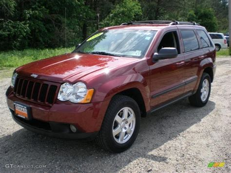 jeep grand cherokee laredo 2008 2008 red rock crystal pearl jeep grand cherokee laredo 4x4
