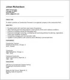Construction Foreman Resume Sample this construction foreman resume example show your management impact