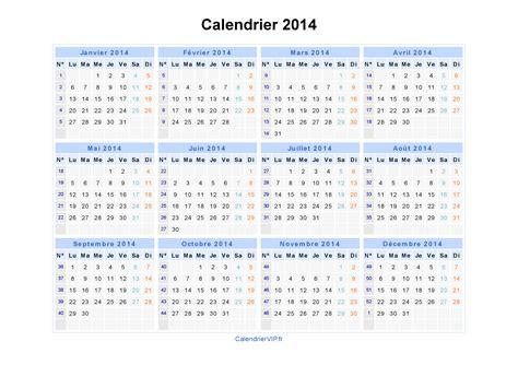 Calendrier 2014 Excel Calendrier 2014 224 Imprimer Gratuit En Pdf Et Excel