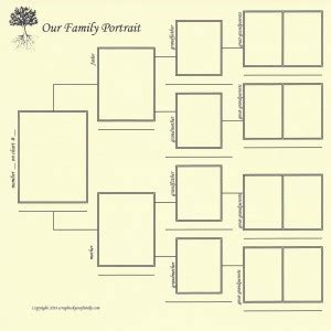 free printable family tree for scrapbook our roots ancestor data timeline chart a 8 x 8