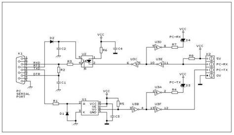 ingresso seriale 9 pin rs232 optoisolata come isolare la porta seriale