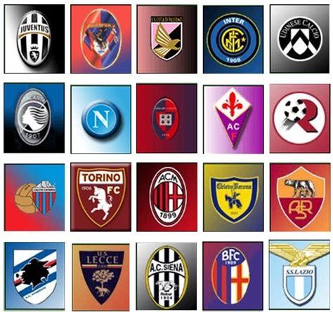Series A Table by Italian Soccer Clubs Italia Logos The O