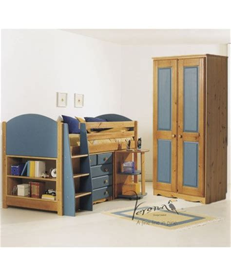 Mid Sleeper Bed With Wardrobe by Midsleeper Cabin Bed