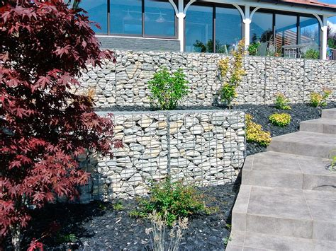 Amenagement Talus Avec by Am 233 Nagement D Un Talus Avec Mur Gabions