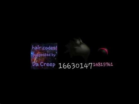 roblox code for long hair hair codes for roblox high school youtube