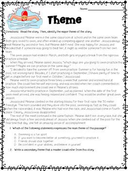 exles of themes in literature 4th grade themes in literature worksheets by deb hanson teachers