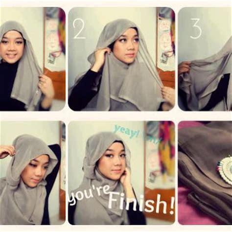 Monochrom Segi Empat Dan Pasmina cara memakai jilbab modern dan gambar tipscaraterbaik