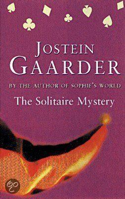 the solitaire mystery bol com the solitaire mystery jostein gaarder 9781857998658 boeken