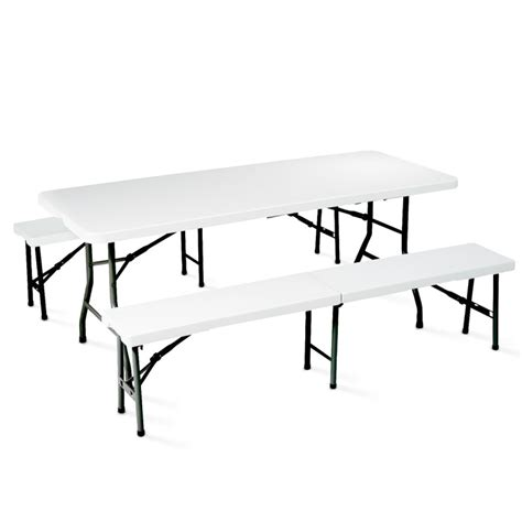 table et bancs ensemble table et banc pliants 8 places mobeventpro