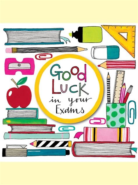 Luck Your New Card Template by 18 Best Exams Luck Images On Best Of