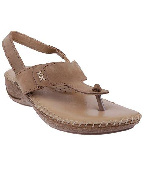 Flat Sandal Metro metro sophisticated beige sandals price in india buy