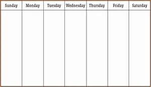 week template 6 week schedule template authorization letter