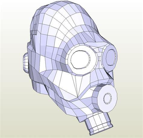 Half Papercraft - papercraft pdo file template for half metrocop mask