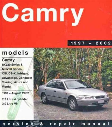 auto manual repair 1997 toyota camry user handbook toyota camry 1997 2002 gregorys service repair manual sagin workshop car manuals repair books