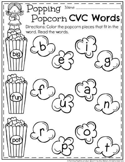 printable popcorn letters all worksheets 187 cvc worksheets kindergarten free