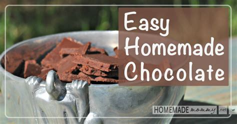 How To Make Handmade Chocolates At Home - easy chocolate
