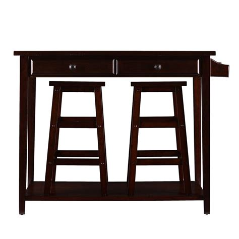 Espresso Bar Table Southern Enterprises Felton 3 Espresso Bar Table Set Hd888958 The Home Depot