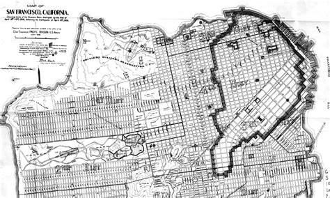 san francisco map history map of the city of san francisco showing streets