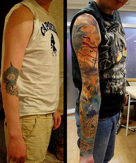 tattoo sleeve cover up cover up tattoos on arm www pixshark images