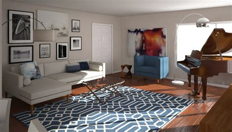design living room online before after mid century modern living room design