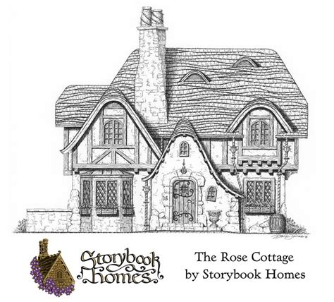 storybook cottage plans cottages the o jays and home on pinterest