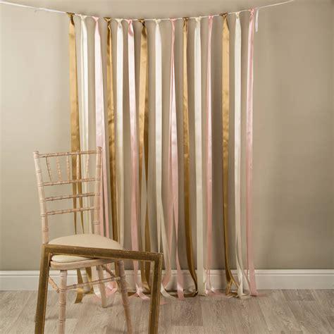 curtain booth baby pink satin ribbon back drop ribbon curtain photo