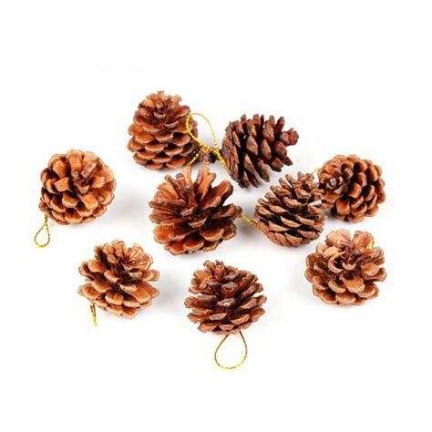 9pcs christmas tree hanging decorative pine cones pinecone