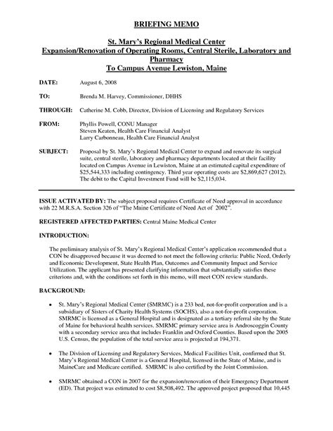 memo report template informational memo exles world of exle