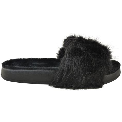 comfy slippers womens womens slides fluffy sandals summer slides
