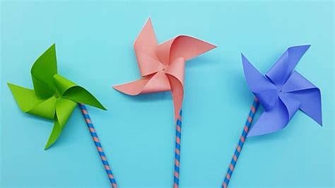 How To Make A Paper Pinwheel That Spins - how to make a paper windmill pinwheel that spins best