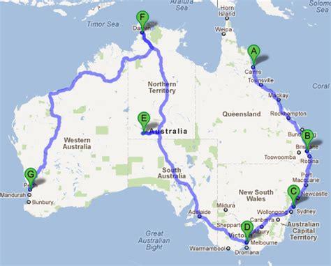 australia driving map australia map road trip