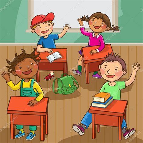 imagenes niños sentados ni 241 os sentados en el aula vector de stock 169 kimazo 69105279