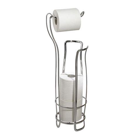 interdesign axis freestanding toilet paper holder   chrome   home depot